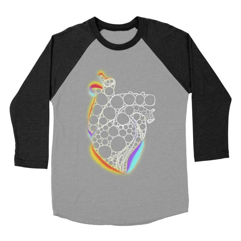 Fractal Heart with chromatic aberrations Women's Baseball Triblend Longsleeve T-Shirt by selendripity's Artist Shop