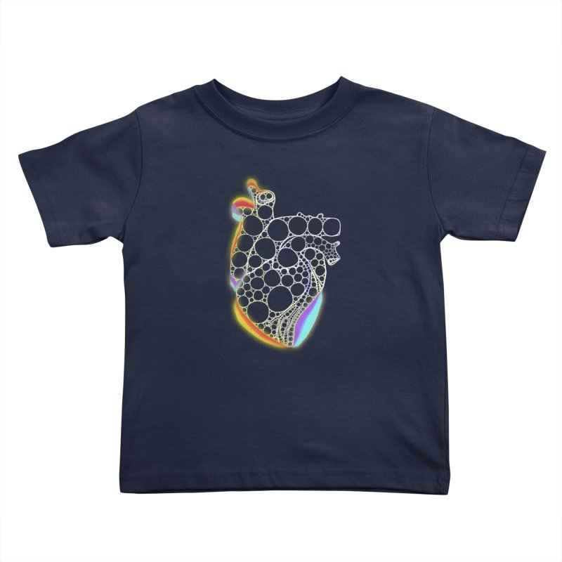 Fractal Heart with chromatic aberrations Kids Toddler T-Shirt by selendripity's Artist Shop