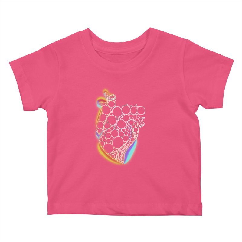 Fractal Heart with chromatic aberrations Kids Baby T-Shirt by selendripity's Artist Shop