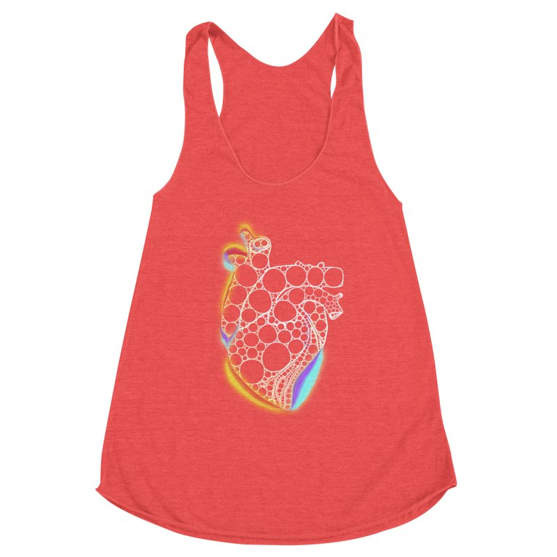 Fractal Heart with chromatic aberrations Women's Tank by selendripity's Artist Shop