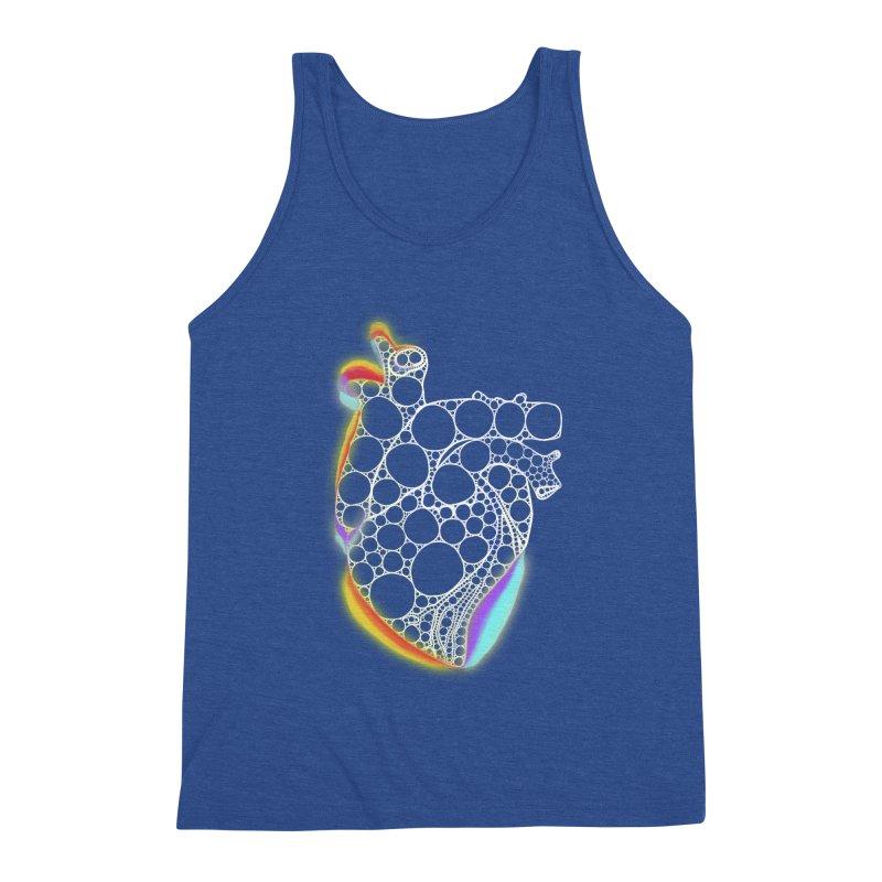 Fractal Heart with chromatic aberrations Men's Tank by selendripity's Artist Shop