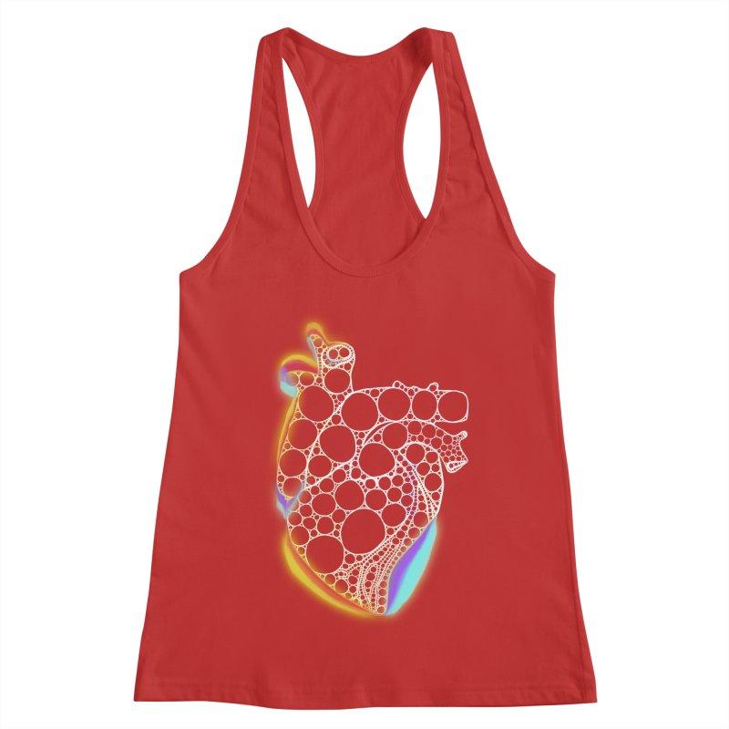 Fractal Heart with chromatic aberrations Women's Racerback Tank by selendripity's Artist Shop