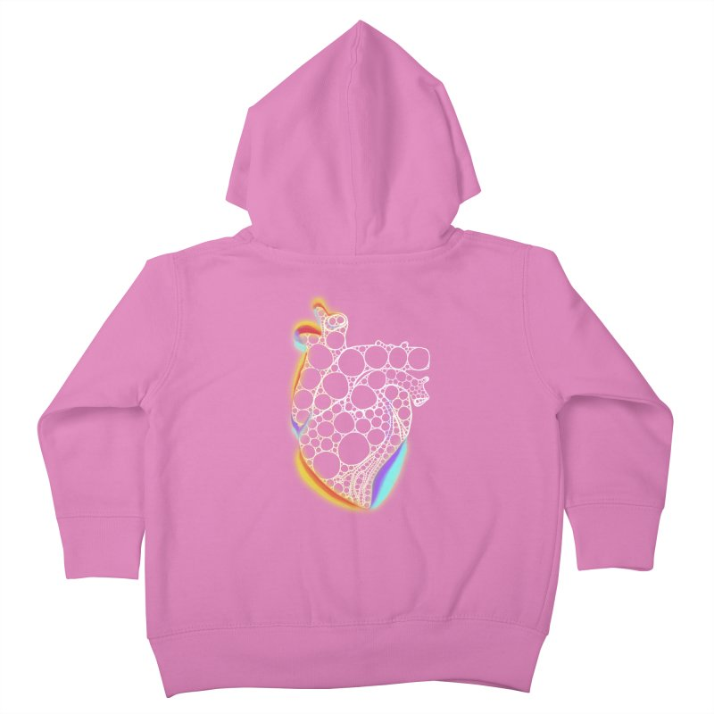 Fractal Heart with chromatic aberrations Kids Toddler Zip-Up Hoody by selendripity's Artist Shop