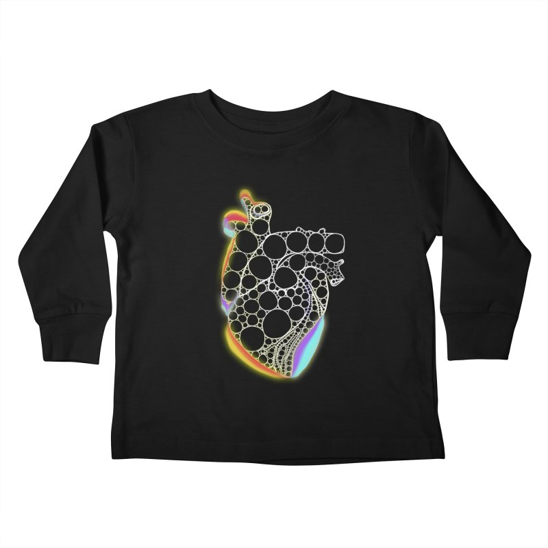 Fractal Heart with chromatic aberrations Kids Toddler Longsleeve T-Shirt by selendripity's Artist Shop
