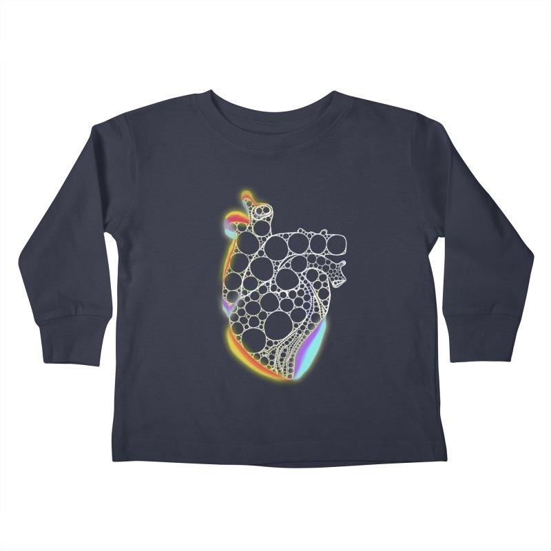 Fractal Heart with chromatic aberrations Kids Toddler Longsleeve T-Shirt by selendripity's Artist Shop