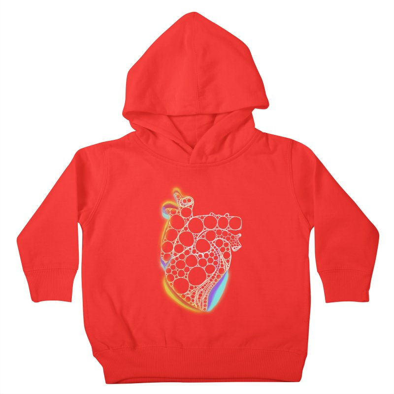 Fractal Heart with chromatic aberrations Kids Toddler Pullover Hoody by selendripity's Artist Shop