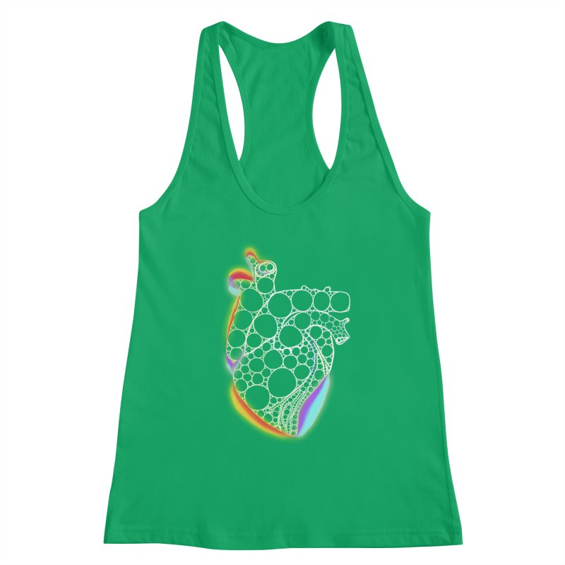 Fractal Heart with chromatic aberrations Women's Tank by selendripity's Artist Shop