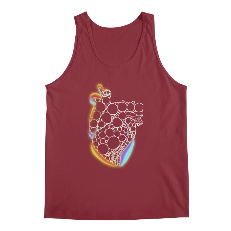 Fractal Heart with chromatic aberrations Men's Tank by selendripity's Artist Shop