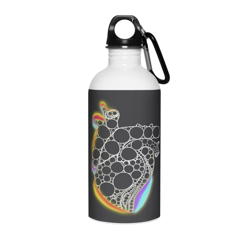 Fractal Heart with chromatic aberrations Accessories Water Bottle by selendripity's Artist Shop