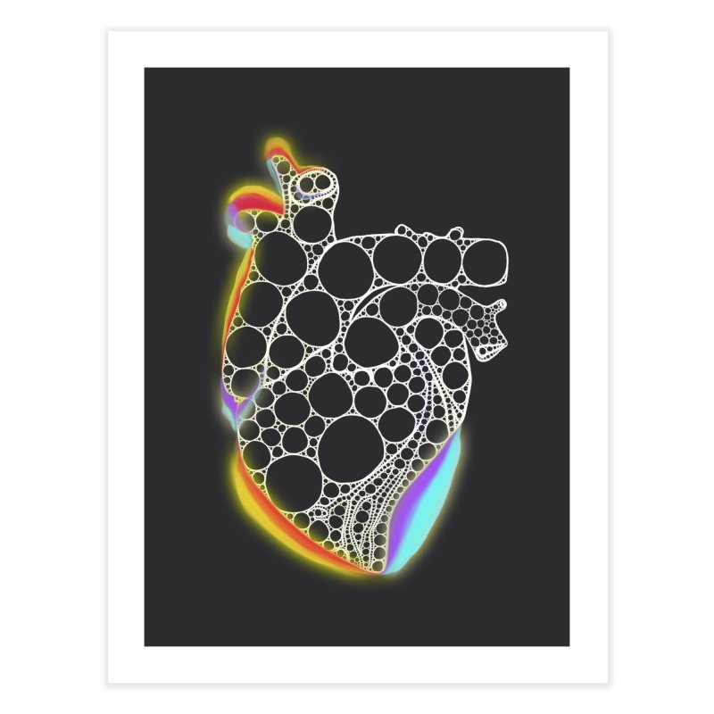 Fractal Heart with chromatic aberrations Home Fine Art Print by selendripity's Artist Shop