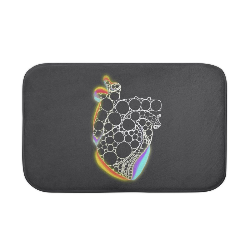 Fractal Heart with chromatic aberrations Home Bath Mat by selendripity's Artist Shop