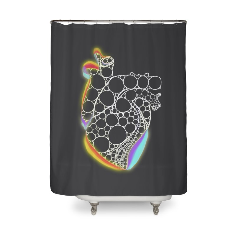 Fractal Heart with chromatic aberrations Home Shower Curtain by selendripity's Artist Shop