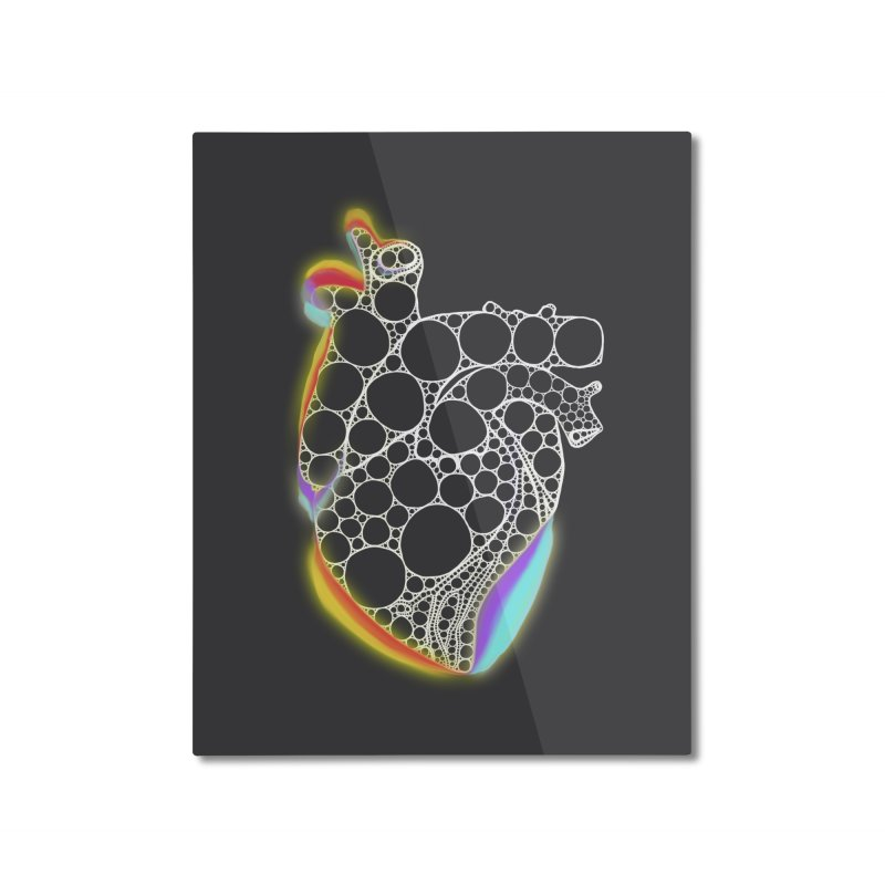 Fractal Heart with chromatic aberrations Home Mounted Aluminum Print by selendripity's Artist Shop