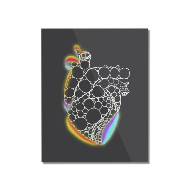 Fractal Heart with chromatic aberrations Home Mounted Acrylic Print by selendripity's Artist Shop