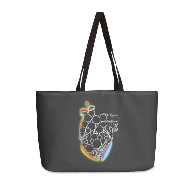 Fractal Heart with chromatic aberrations Accessories Weekender Bag Bag by selendripity's Artist Shop
