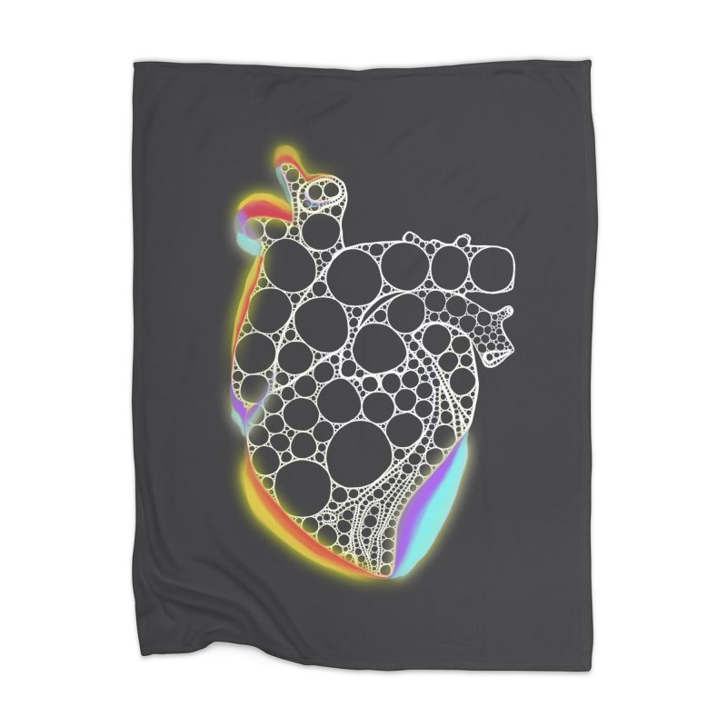 Fractal Heart with chromatic aberrations Home Blanket by selendripity's Artist Shop