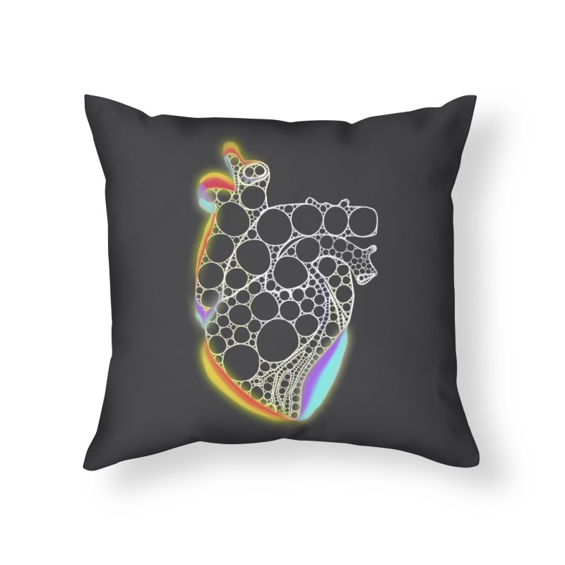 Fractal Heart with chromatic aberrations Home Throw Pillow by selendripity's Artist Shop