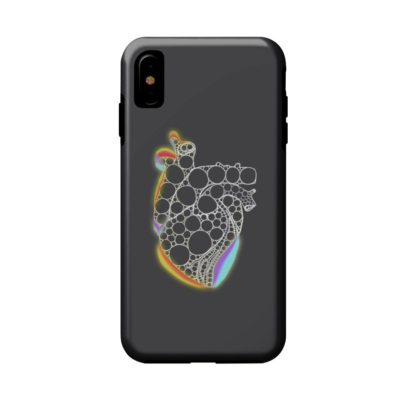 Fractal Heart with chromatic aberrations Accessories Phone Case by selendripity's Artist Shop