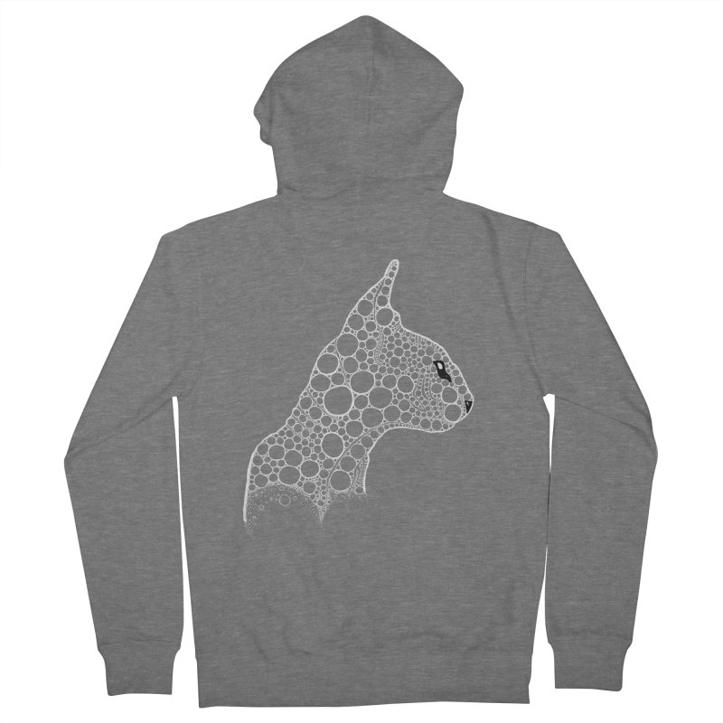 White Fractal Sphynx Men's Zip-Up Hoody by selendripity's Artist Shop