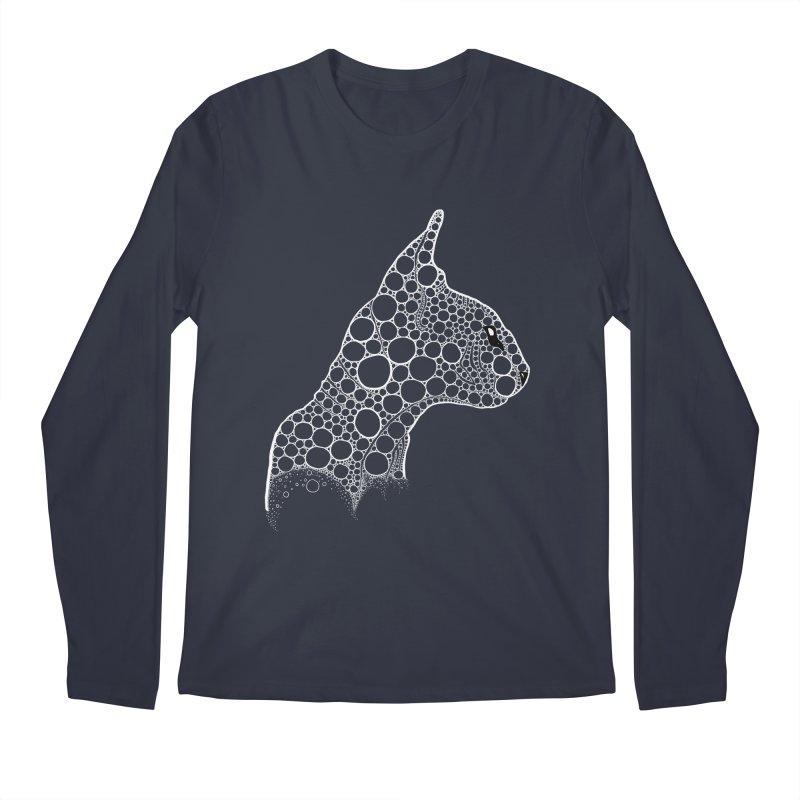 White Fractal Sphynx Men's Regular Longsleeve T-Shirt by selendripity's Artist Shop