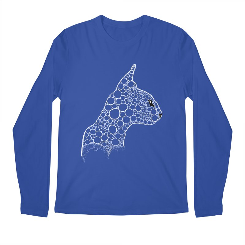 White Fractal Sphynx Men's Regular Longsleeve T-Shirt by selendripity's Artist Shop