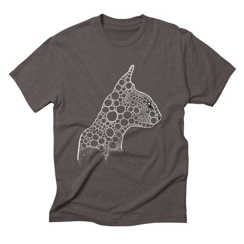 White Fractal Sphynx Men's Triblend T-Shirt by selendripity's Artist Shop