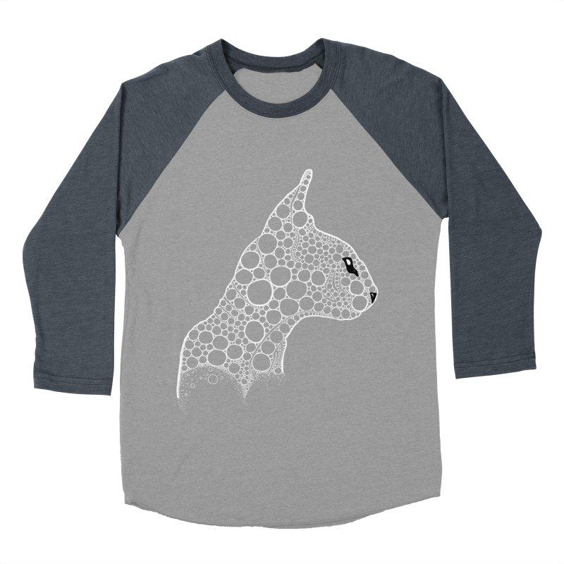 White Fractal Sphynx Men's Baseball Triblend Longsleeve T-Shirt by selendripity's Artist Shop