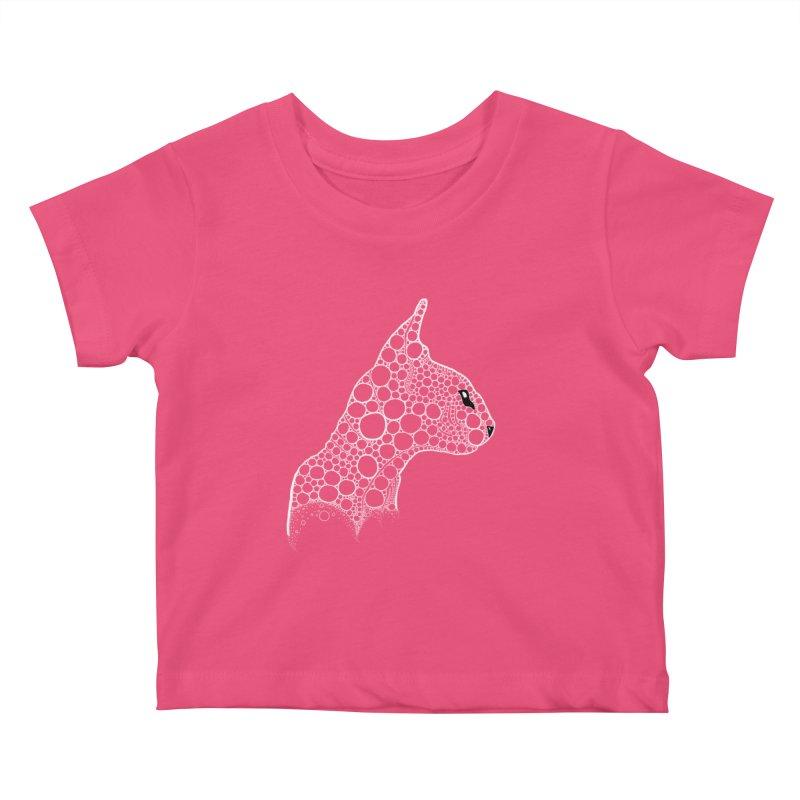 White Fractal Sphynx Kids Baby T-Shirt by selendripity's Artist Shop