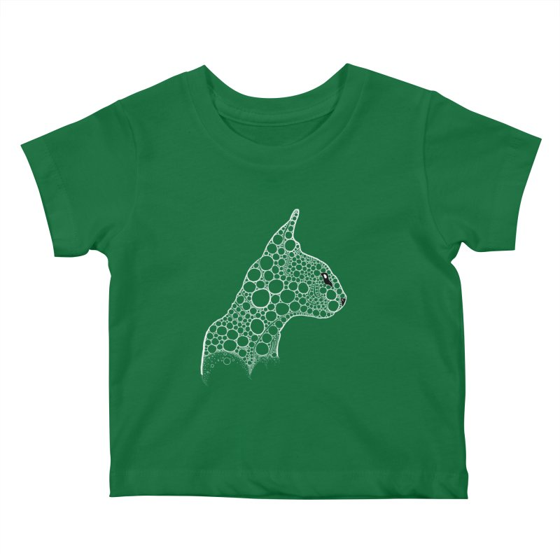 White Fractal Sphynx Kids Baby T-Shirt by selendripity's Artist Shop