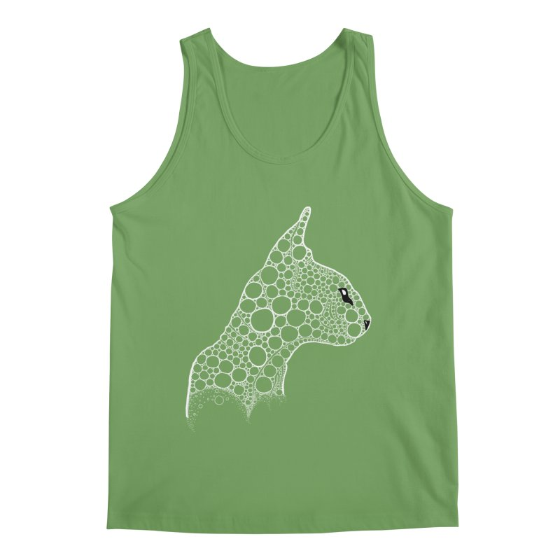 White Fractal Sphynx Men's Tank by selendripity's Artist Shop