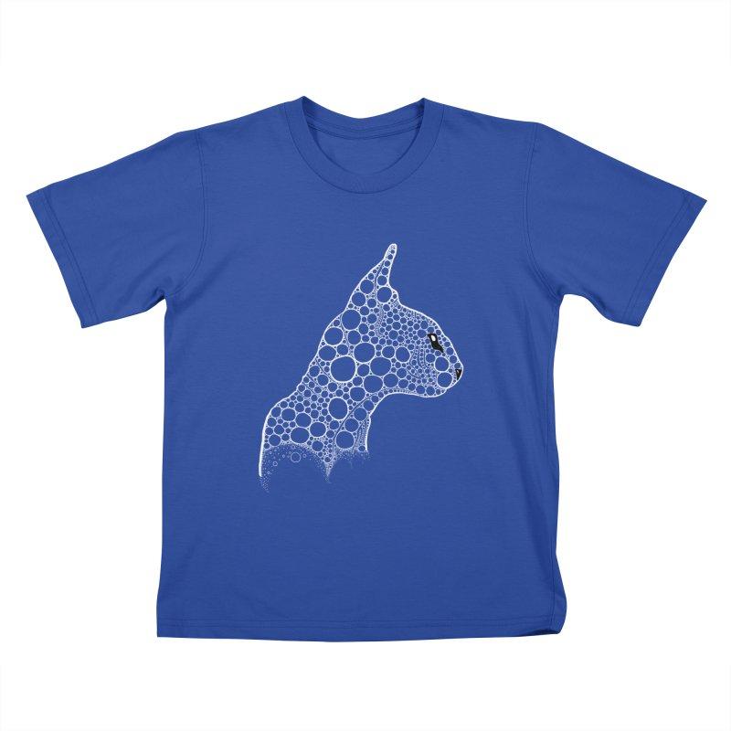 White Fractal Sphynx Kids T-Shirt by selendripity's Artist Shop