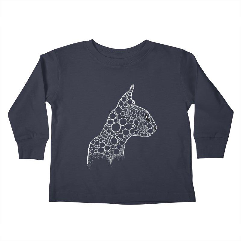 White Fractal Sphynx Kids Toddler Longsleeve T-Shirt by selendripity's Artist Shop