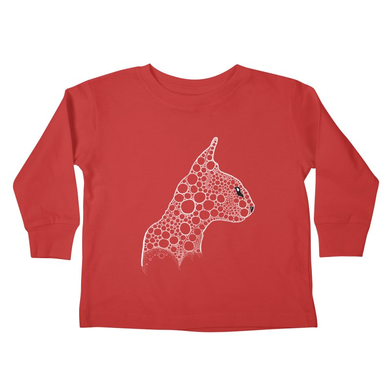 White Fractal Sphynx Kids Toddler Longsleeve T-Shirt by selendripity's Artist Shop