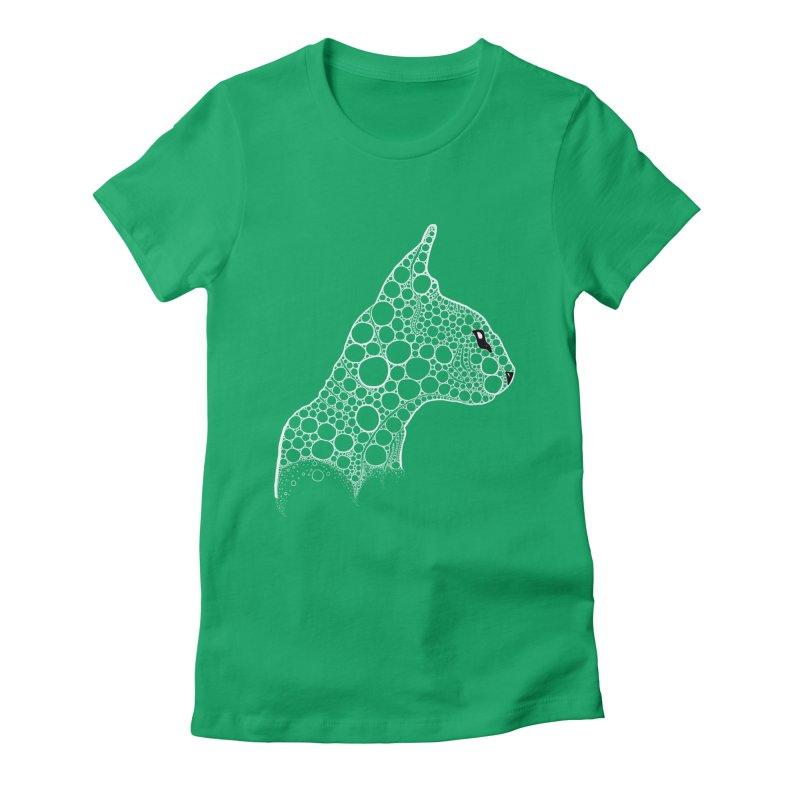 White Fractal Sphynx Women's Fitted T-Shirt by selendripity's Artist Shop