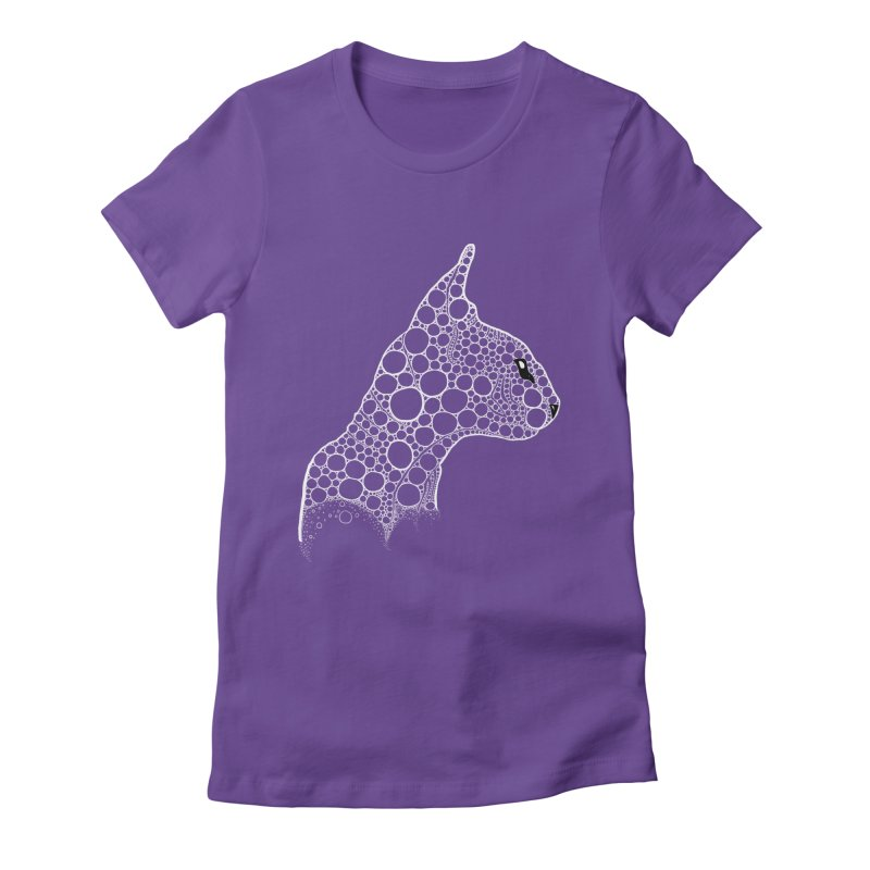 White Fractal Sphynx Women's Fitted T-Shirt by selendripity's Artist Shop