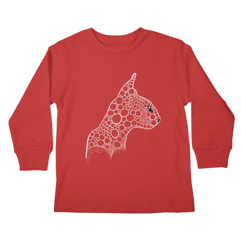 White Fractal Sphynx Kids Longsleeve T-Shirt by selendripity's Artist Shop