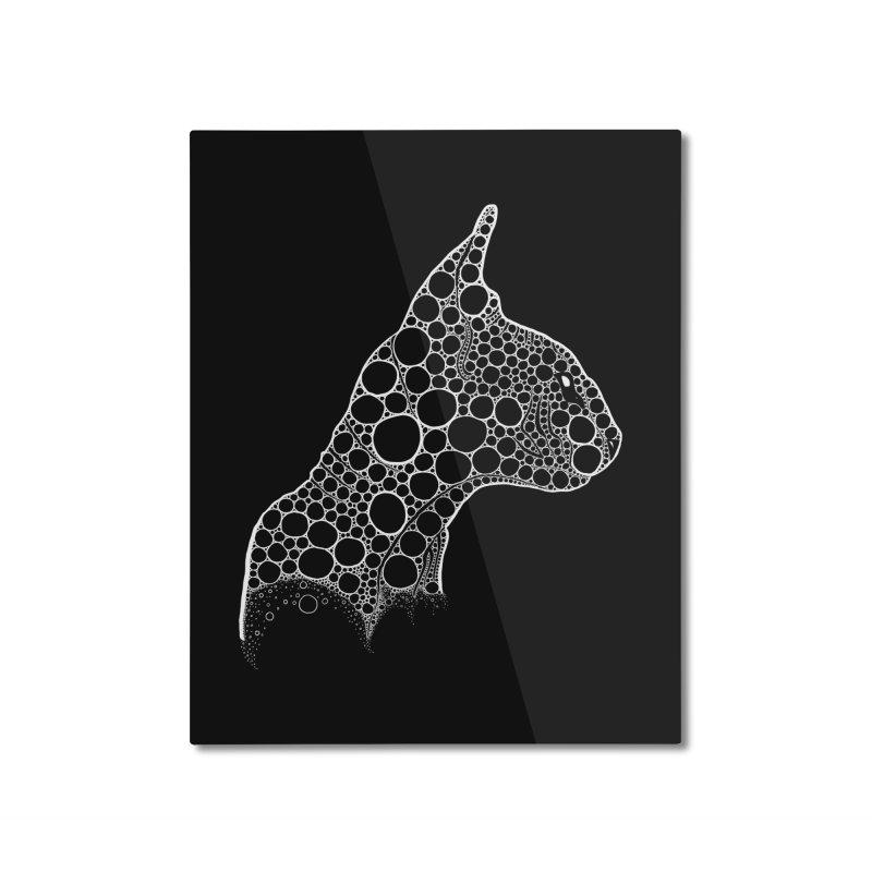 White Fractal Sphynx Home Mounted Aluminum Print by selendripity's Artist Shop
