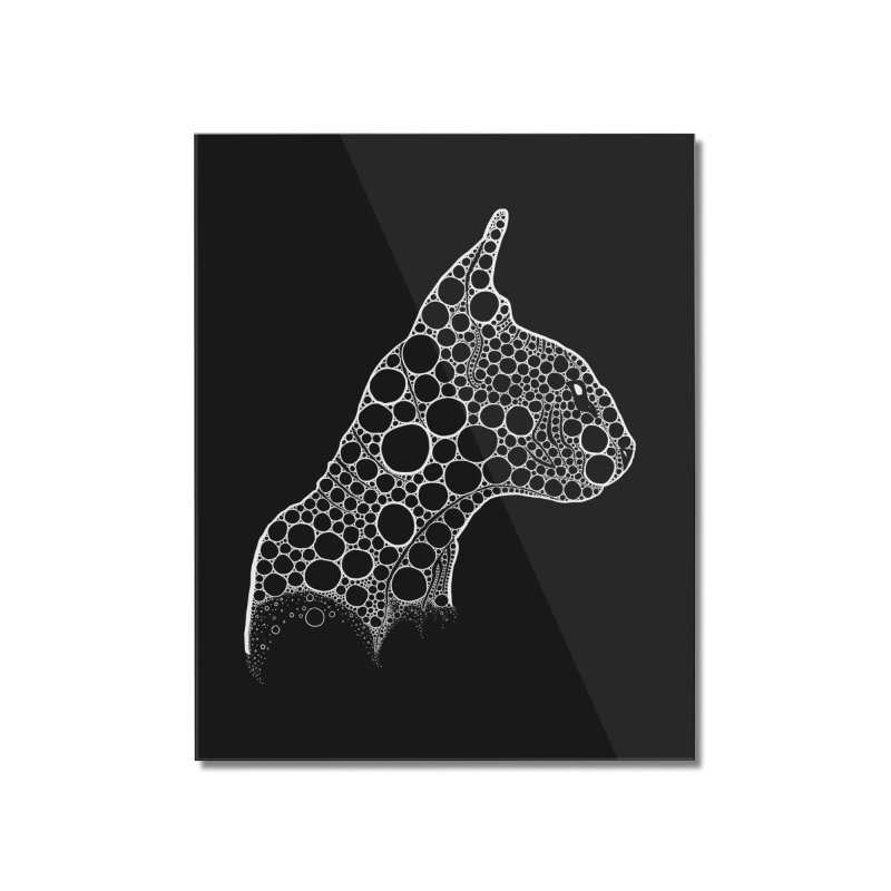 White Fractal Sphynx Home Mounted Acrylic Print by selendripity's Artist Shop