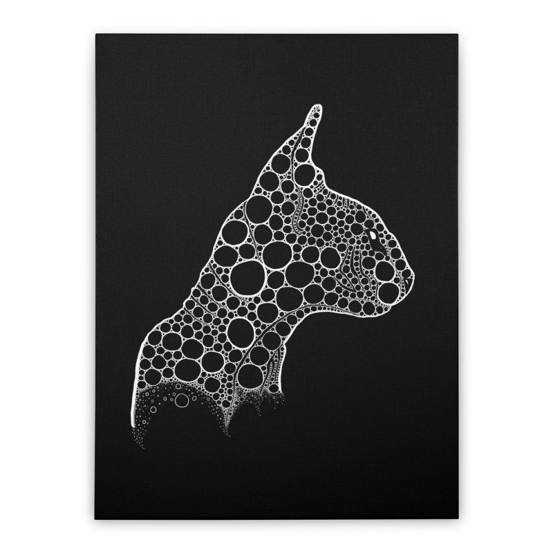 White Fractal Sphynx Home Stretched Canvas by selendripity's Artist Shop