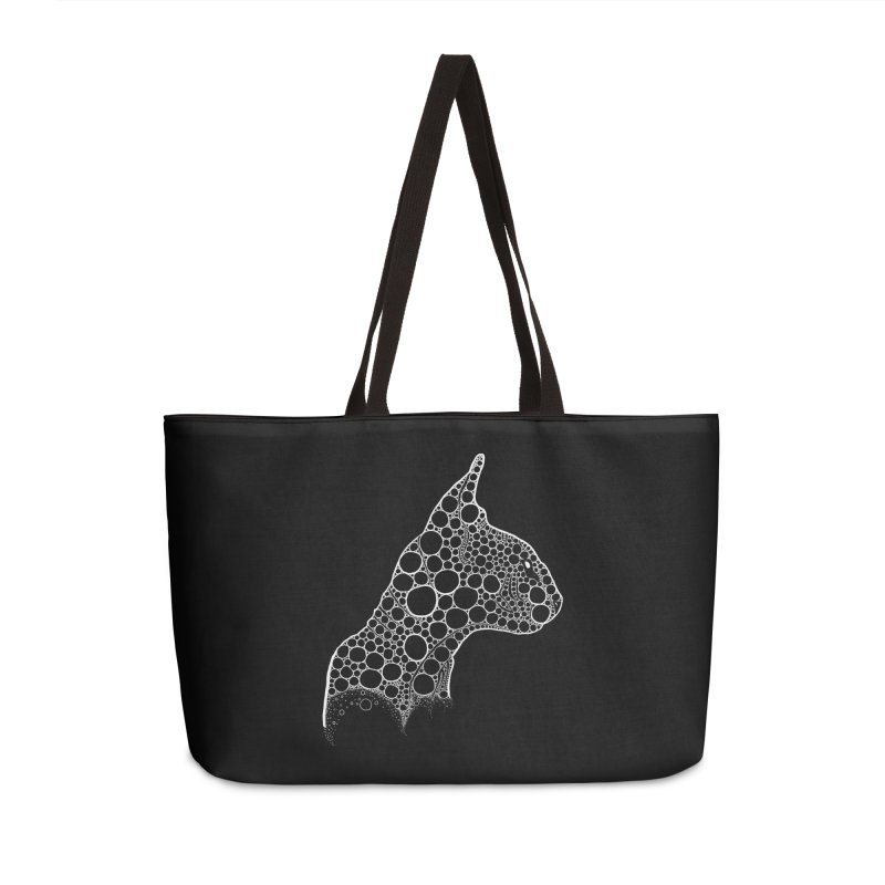 White Fractal Sphynx Accessories Weekender Bag Bag by selendripity's Artist Shop