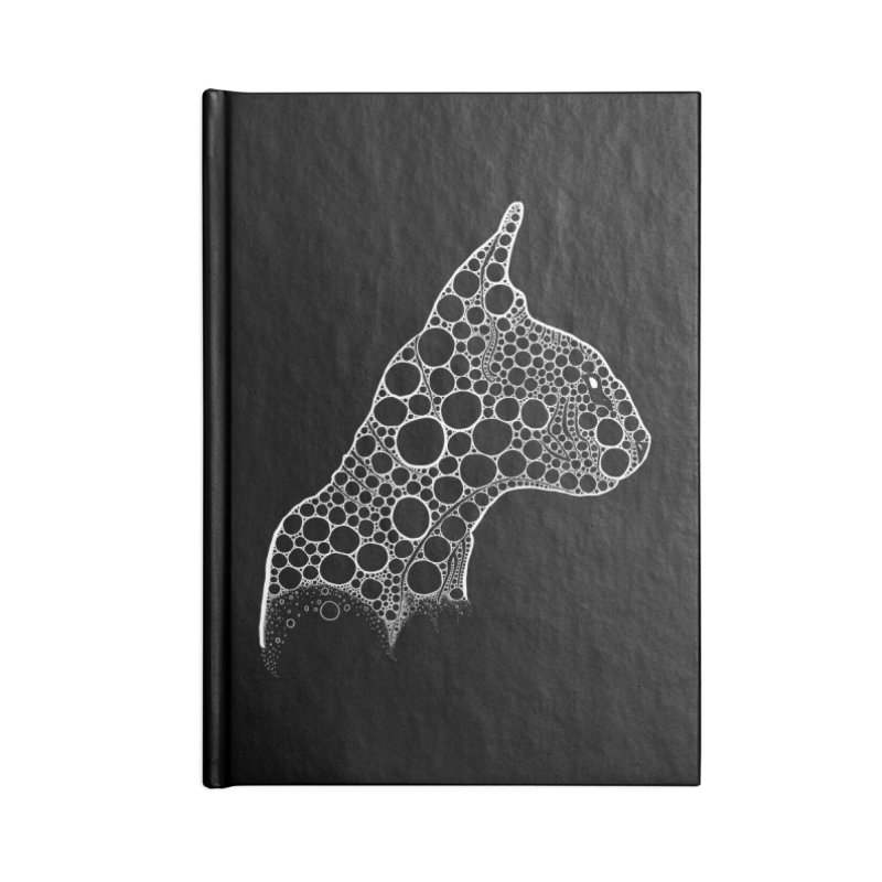 White Fractal Sphynx Accessories Lined Journal Notebook by selendripity's Artist Shop