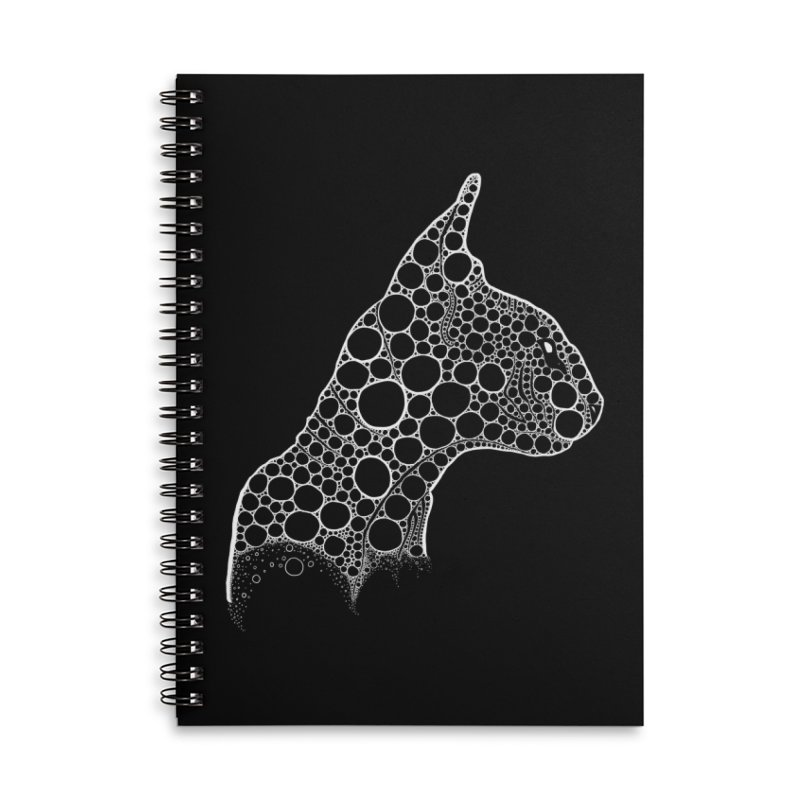 White Fractal Sphynx Accessories Lined Spiral Notebook by selendripity's Artist Shop