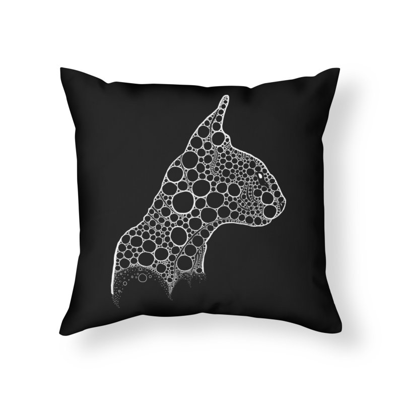White Fractal Sphynx Home Throw Pillow by selendripity's Artist Shop