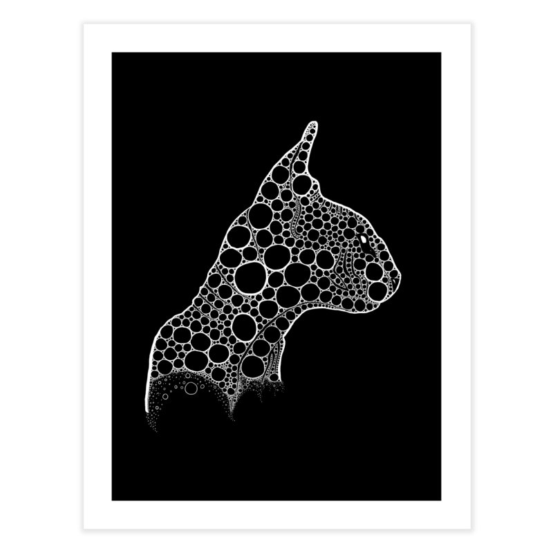 White Fractal Sphynx Home Fine Art Print by selendripity's Artist Shop