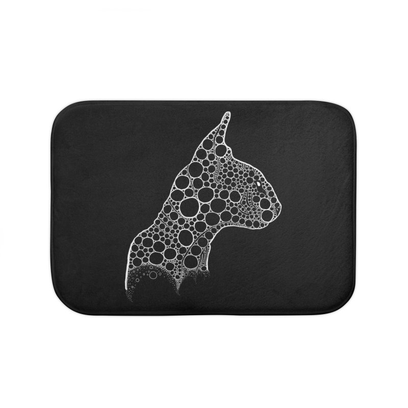 White Fractal Sphynx Home Bath Mat by selendripity's Artist Shop