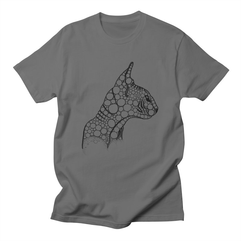Black Fractal Sphynx Men's T-Shirt by selendripity's Artist Shop