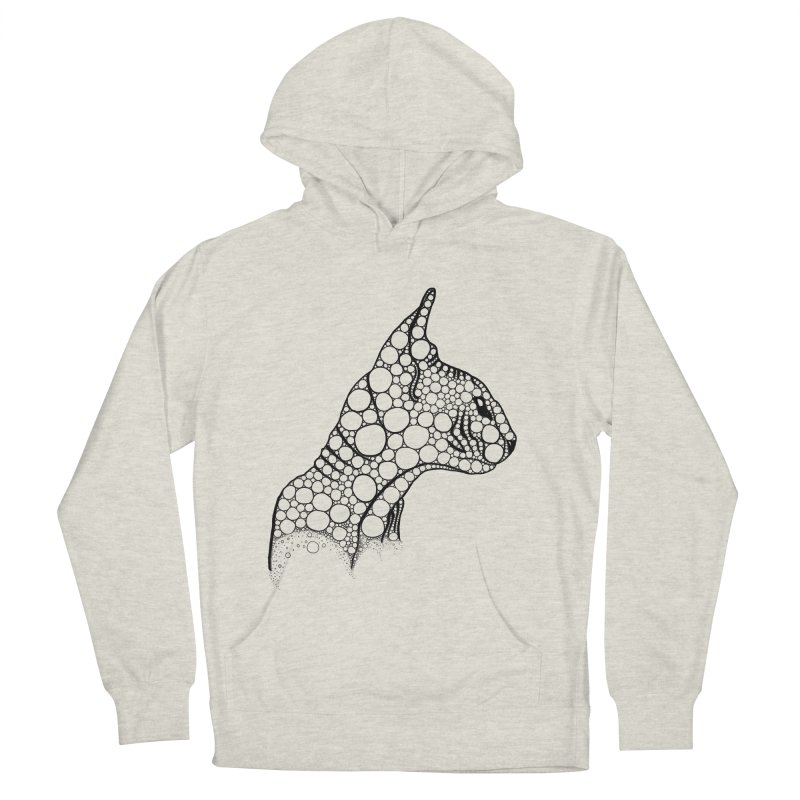 Black Fractal Sphynx Women's French Terry Pullover Hoody by selendripity's Artist Shop