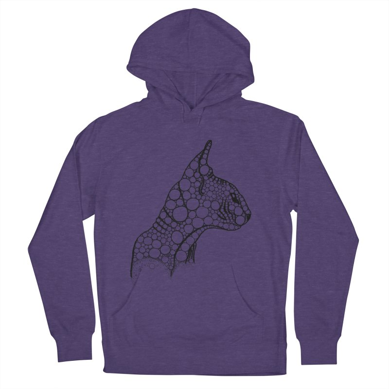 Black Fractal Sphynx Men's French Terry Pullover Hoody by selendripity's Artist Shop
