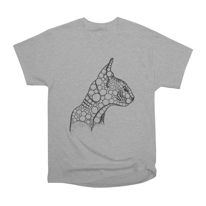 Black Fractal Sphynx Women's Heavyweight Unisex T-Shirt by selendripity's Artist Shop