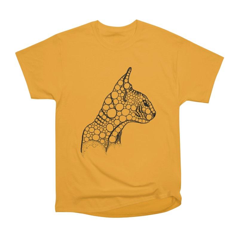 Black Fractal Sphynx Men's Heavyweight T-Shirt by selendripity's Artist Shop
